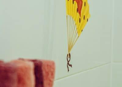 """Detail im Badezimmer in der Etage """"Schmetterlingswiese"""""""