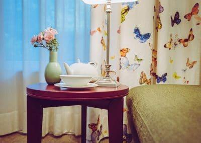 """Detailaufnahme im Gästezimmer der Etage """"Schmetterlingswiese"""""""